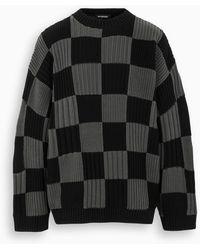 Balenciaga Maglia a quadri nera/grigia - Nero