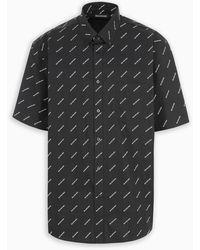Balenciaga Logo Shirt - Black