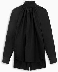 Prada Compact Egyptian Poplin Blouse - Black