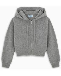 Prada Zipped Sweatshirt - Grey