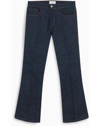 AMI Jeans a zampa blu scuro