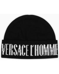 Versace Cappello con logo nero/bianco