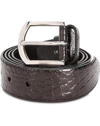 Church's Brown Crocodile Leather Belt