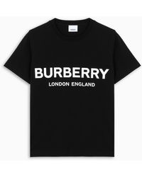 Burberry T-SHIRT SHOTOVER LOGO NERA - Nero