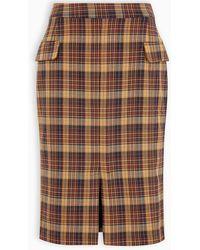 REMAIN Birger Christensen Checked Pencil Skirt - Brown