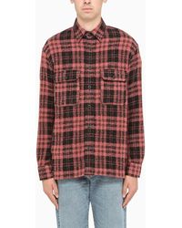 Destin Pink/black Checked Wester Shirt