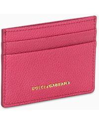 Dolce & Gabbana Fuchsia Logo Cardholder - Pink
