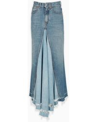 Givenchy Denim Long Skirt - Blue