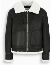 Loewe Sheepskin Biker Jacket - Black