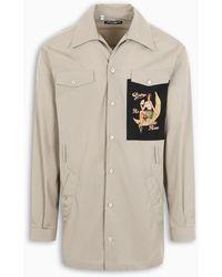 Dolce & Gabbana Pin-up Patch Shirt - Natural
