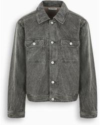 Our Legacy Coated Grey Linen Mono Denim Jacket