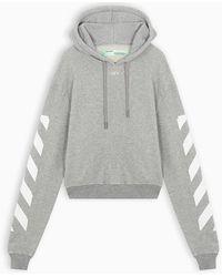 Off-White c/o Virgil Abloh Grey Off Sweatshirt - Gray