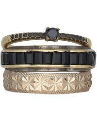 Iosselliani Black And Gold Ring - Multicolour