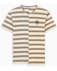 Loewe Eln Stripe Asymmetrical T-shirt - Natural