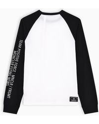 7 MONCLER FRAGMENT Fragment T-shirt With Team Positive Print - White