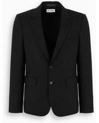 Saint Laurent Giacca nera in lana - Nero