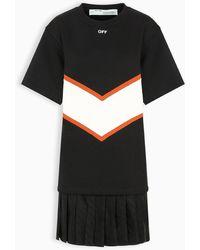 Off-White c/o Virgil Abloh Intarsia 2-in-1 Cotton Dress - Black