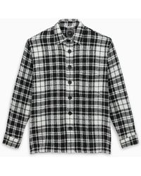 Destin White/black Checked Shirt