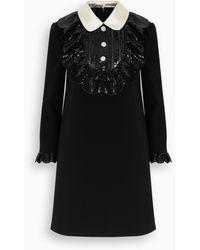 Miu Miu Embellished Faille Cady Dress - Black