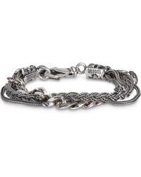 Emanuele Bicocchi Bracciale Multi Chain argento - Metallizzato