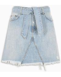 Givenchy Belted Denim Miniskirt - Blue
