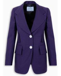 Prada Kid Mohair Blazer - Purple