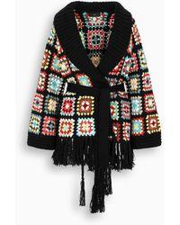 Alanui Western Granny Crochet Cardigan - Black