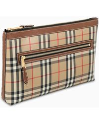 Burberry Small Check Leather Pouch - Multicolour
