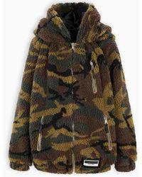 Miu Miu Camouflage Teddy Coat - Multicolour
