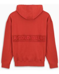 A_COLD_WALL* * Red Logo-embroidery Hoodie