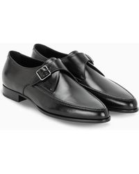 Saint Laurent Marceau Monk Strap Shoes - Black