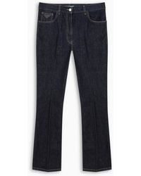 Prada Flare Crop Jeans - Blue