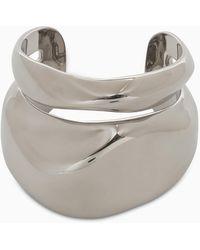 Alexander McQueen Rigid Layered Bracelet - Metallic