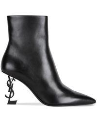 Saint Laurent Black Opyum Ankle Boot