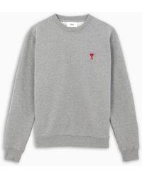 AMI Ami De Coeur Loopback Sweatshirt - Gray