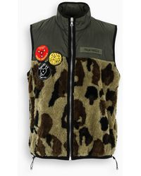Palm Angels - Gilet camouflage con patch - Lyst