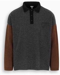 Loewe Polo Collar Oversize Jumper - Black