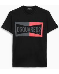DSquared² T-shirt nera con stampa - Nero