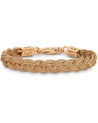 Emanuele Bicocchi Gold Plated Braided Bracelet - Metallic