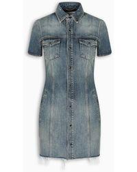 Saint Laurent Denim Mini Dress - Blue