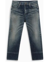 Saint Laurent Jeans con effetto sdrucito - Blu