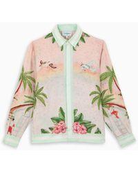 CASABLANCA Pink Silk Shirt - Multicolor