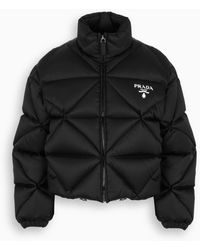 Prada Black Re-nylon Quilted Down Jacket