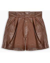 Manokhi Brown Leather Shorts