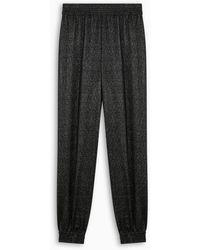 Saint Laurent Pantalone harem nero brillante