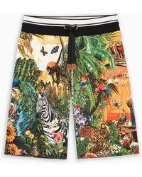 Dolce & Gabbana Pantaloncino con stampa Tropical King - Verde