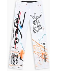 Off-White c/o Virgil Abloh Tm White Future Rainbow Jeans