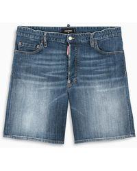 DSquared² Pantaloncino in denim effetto slavato - Blu