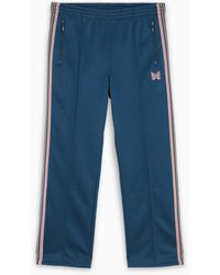 Needles Green Sports Pants With Embroidered Logo