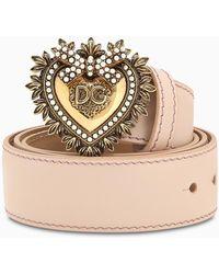 Dolce & Gabbana Pink Devotion Belt